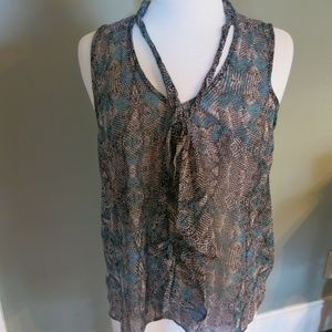 Forever 21 Sleeveless Top with Tie at Neck
